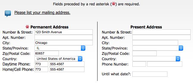 postal address job seeker help
